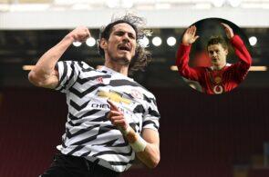Edinson Cavani, Ole Gunnar Solskjaer - Manchester United