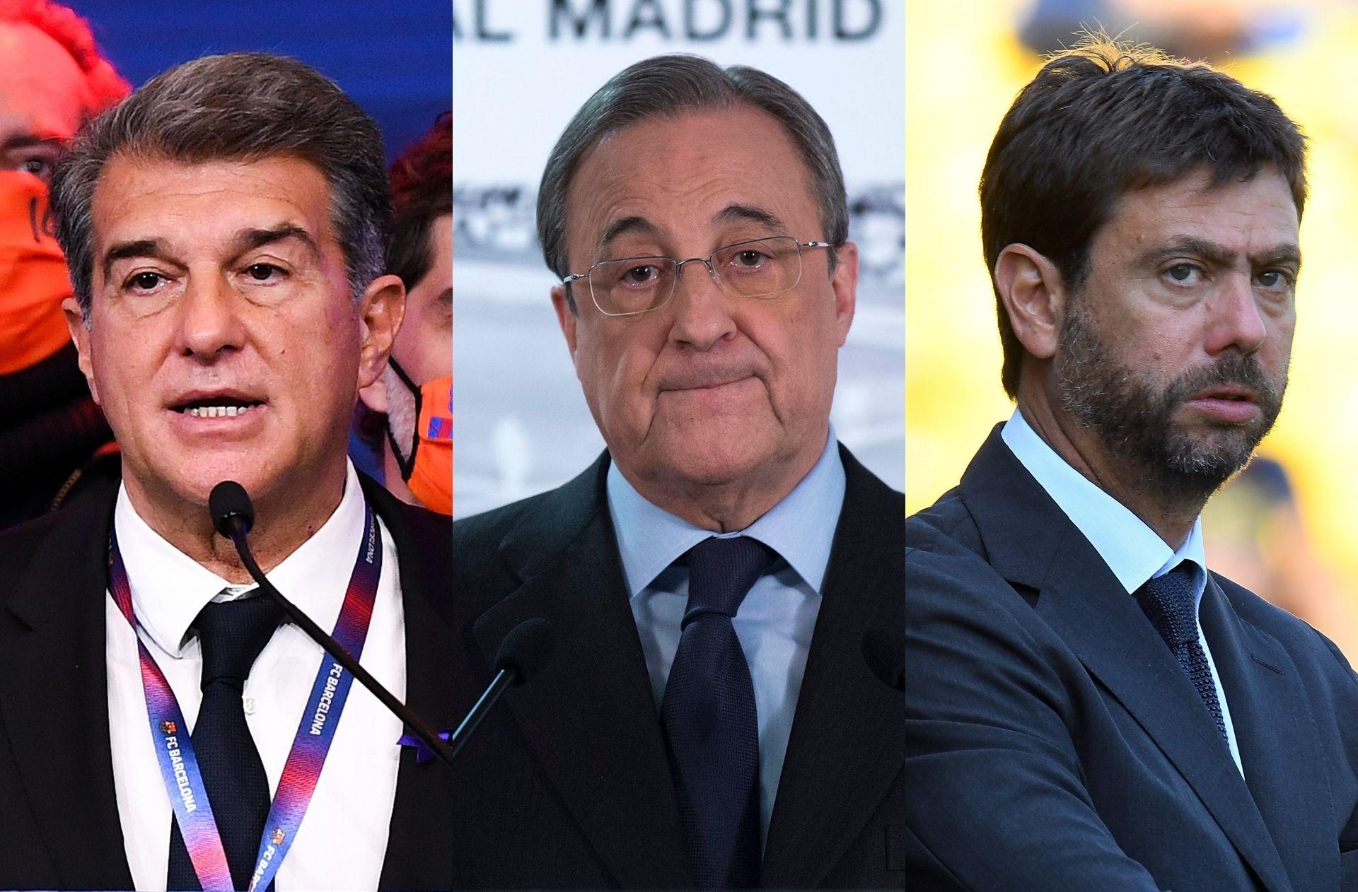 Real Madrid, Barcelona, Juventus, European Super League