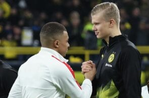 Mbappe of PSG, Haaland of Dortmund