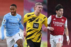 Raheem Sterling Man City, Erling Haaland - Dortmund, Hector Bellerin - Arsenal
