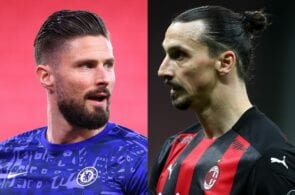 Olivier Giroud - Chelsea, Zlatan Ibrahimovic - AC Milan