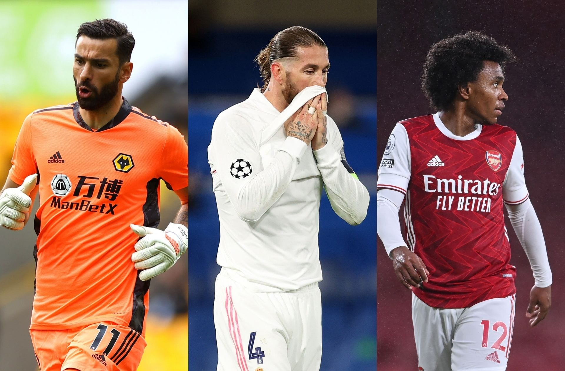 Rui Patricio - Wolves, Sergio Ramos - Real Madrid, Willian - Arsenal