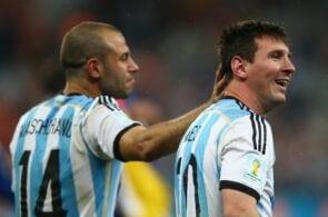 Lionel Messi, Javier Mascherano, Argentina