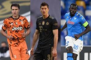 Chiesa - Juventus, Lewandowski - Bayern, Koulibaly - Napoli