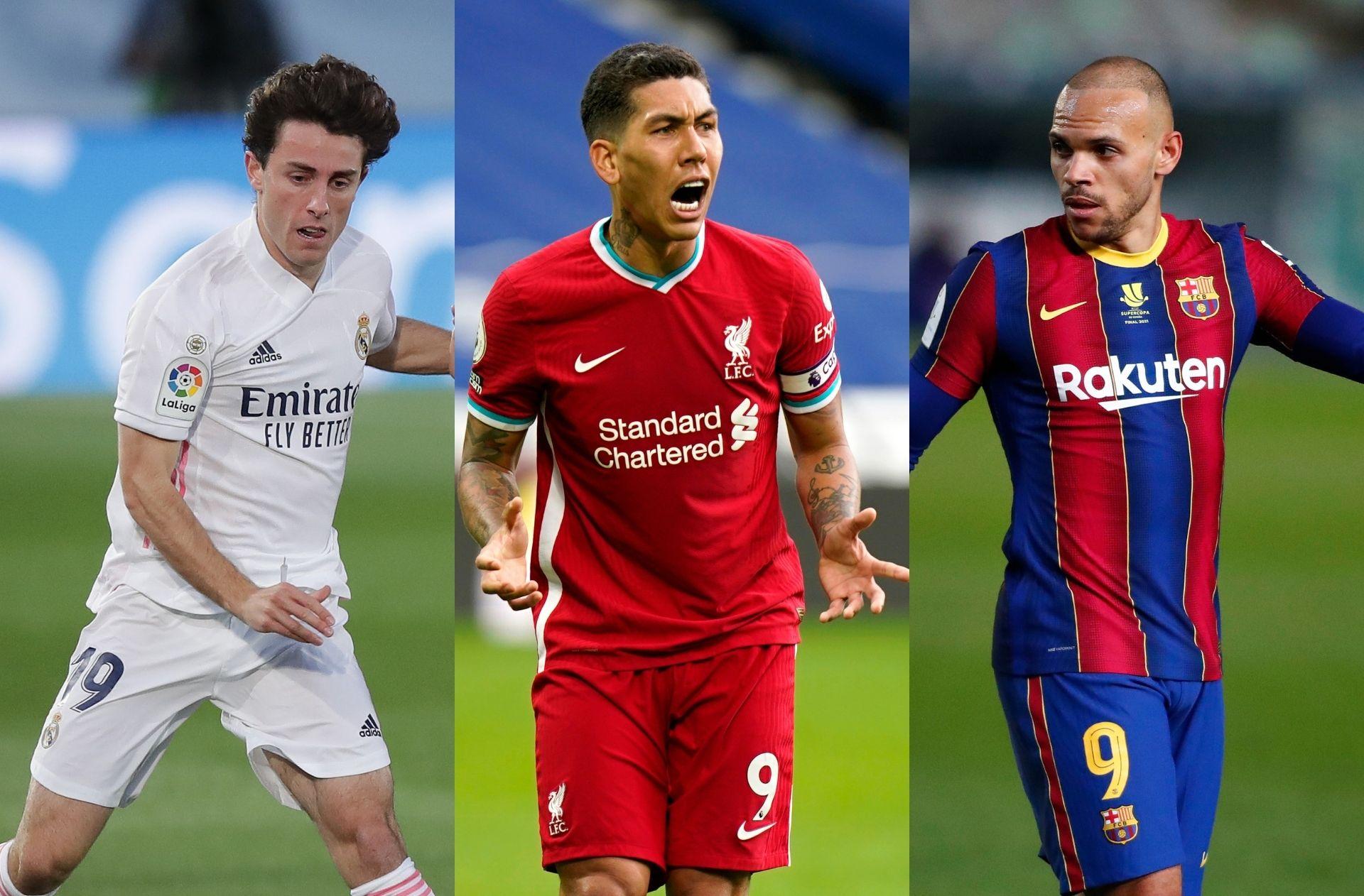 Alvaro Odriozola - Real Madrid, Roberto Firmino - Liverpool, Martin Braithwaite of FC Barcelona