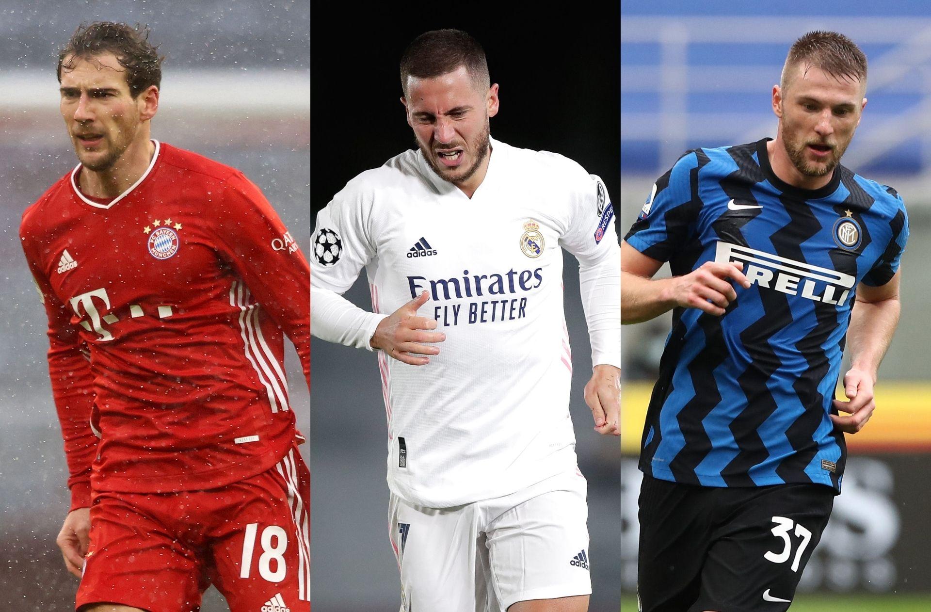 Leon Goretzka of Bayern Munich, Eden Hazard of Real Madrid, Milan Skriniar - Inter Milan