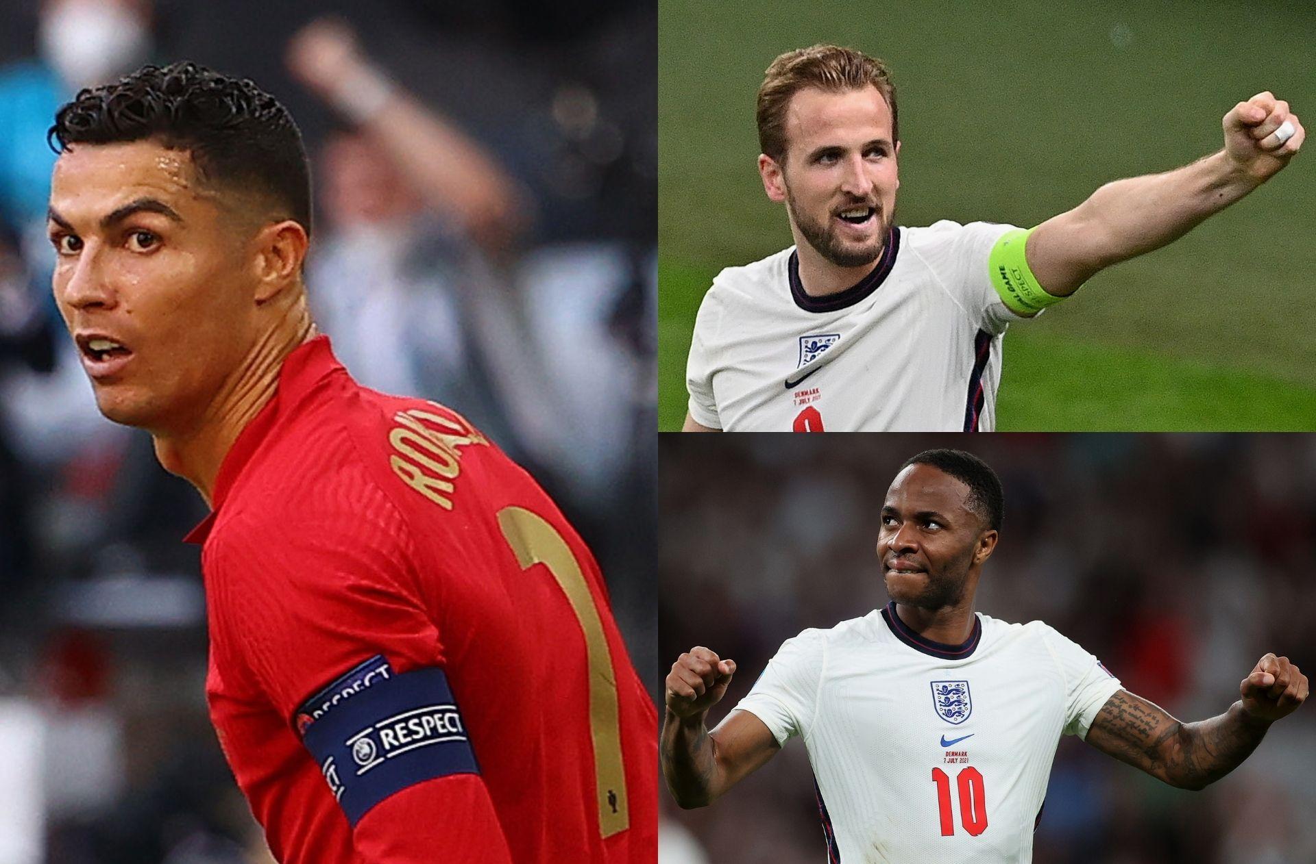 Ronaldo - Portugal, Kane & Sterling - England