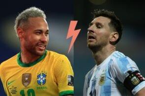 Neymar - Brazil, Messi - Argentina