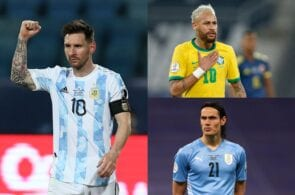 Lionel Messi, Neymar, Edinson Cavani, Copa America