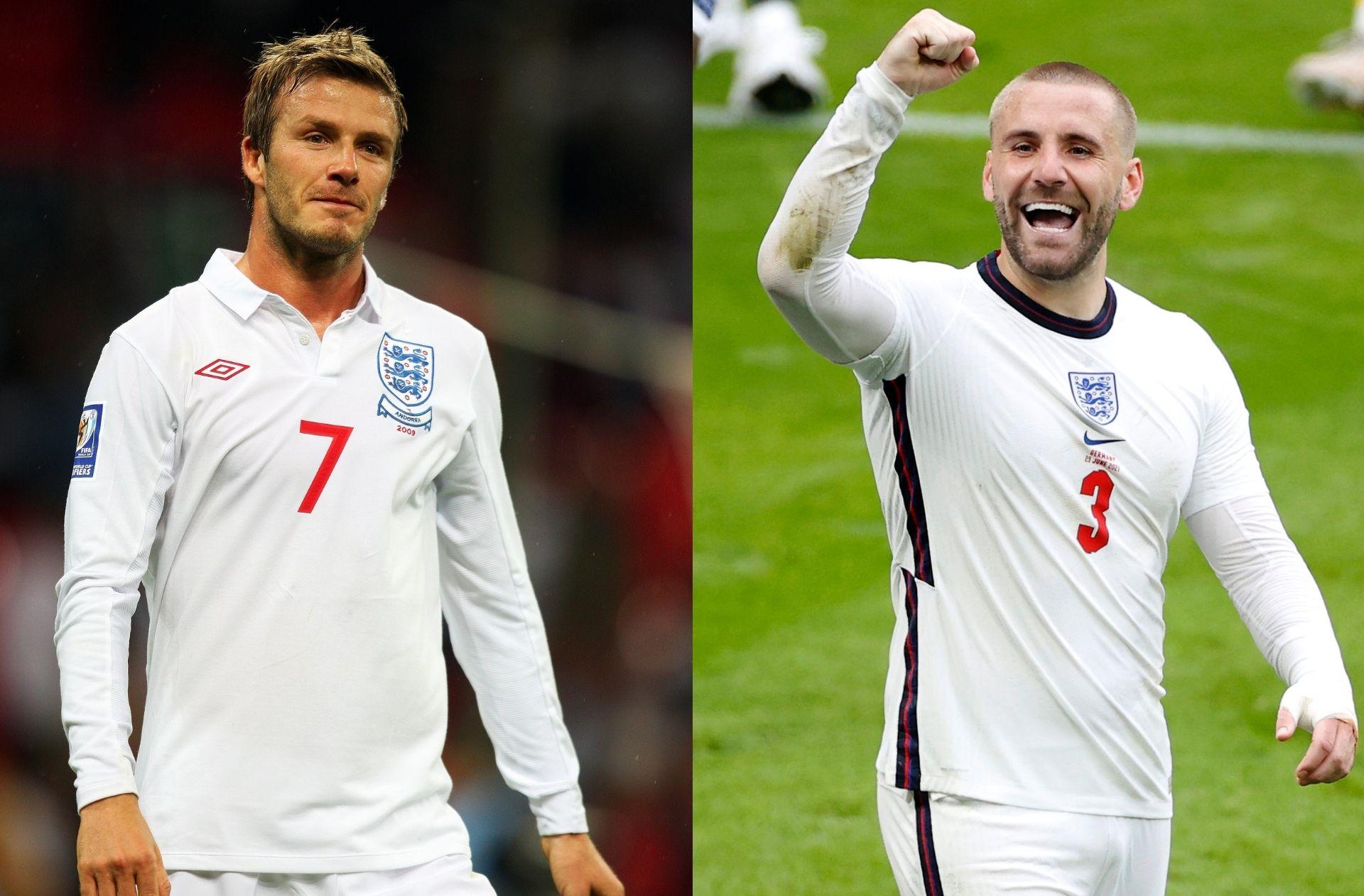 David Beckham, Luke Shaw, England