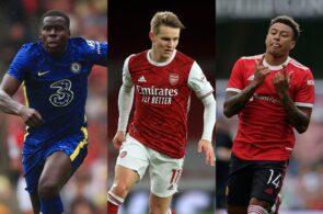 Kurt Zouma - Chelsea, Martin Odegaard - Arsenal, Jesse Lingard - Man United