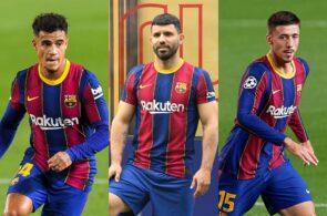 Philippe Coutinho, Sergio Aguero, Clement Lenglet - FC Barcelona