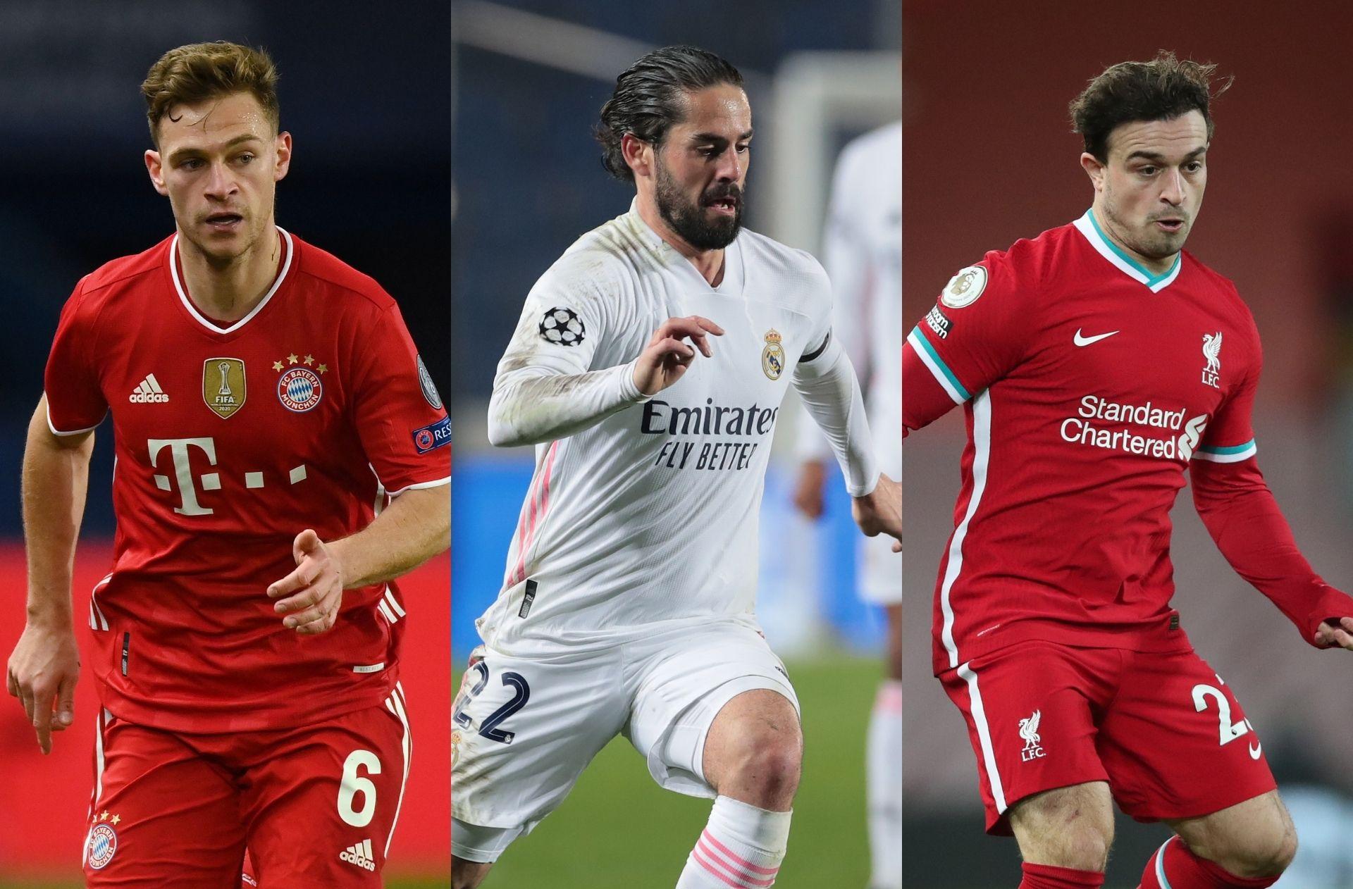 Kimmich - Bayern, Isco - Real Madrid, Shaqiri - Liverpool
