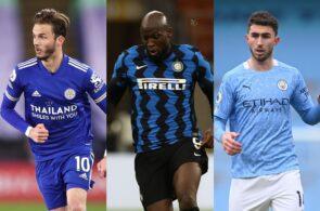 James Maddison Leicester City, Romelu Lukaku - Inter Milan, Aymeric Laporte - Man City