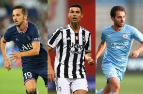 Pablo Sarabia - PSG, Cristiano Ronaldo - Juventus, Bernardo Silva - Man City