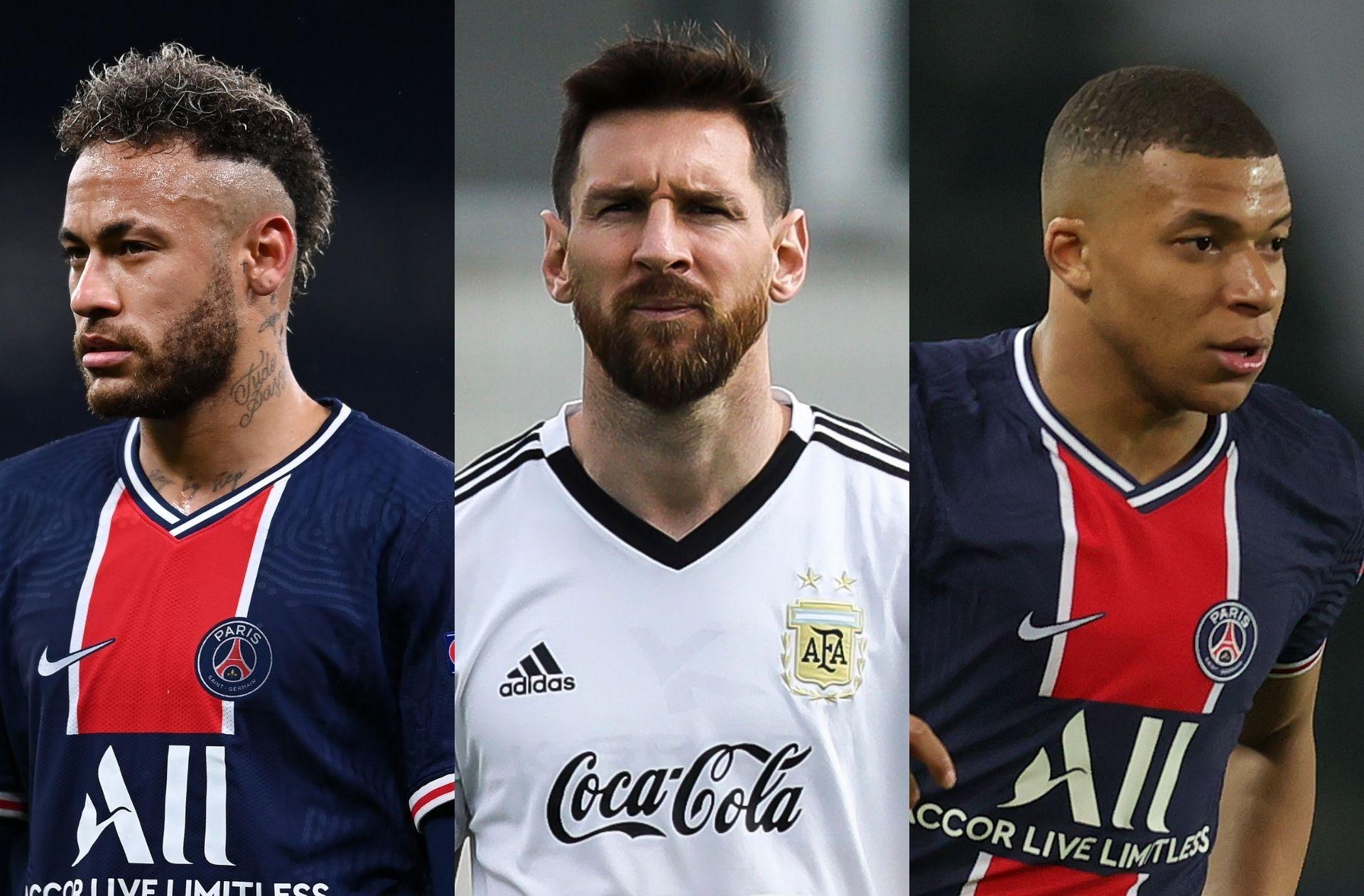 Neymar, Lionel Messi, Kylian Mbappe