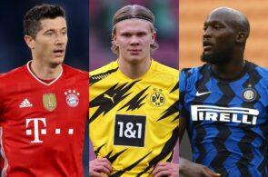 Robert Lewandowski, Erling Haaland, Romelu Lukaku, Chelsea