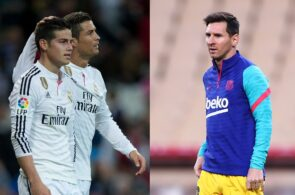 James Rodriguez, Cristiano Ronaldo, Lionel Messi