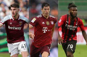 Declan Rice - West Ham, Robert Lewandowski - Bayern Munich, Franck Kessie - AC Milan