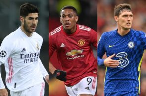 Marco Asensio Real Madrid, Anthony Martial - Man United, Andreas Christensen - Chelsea