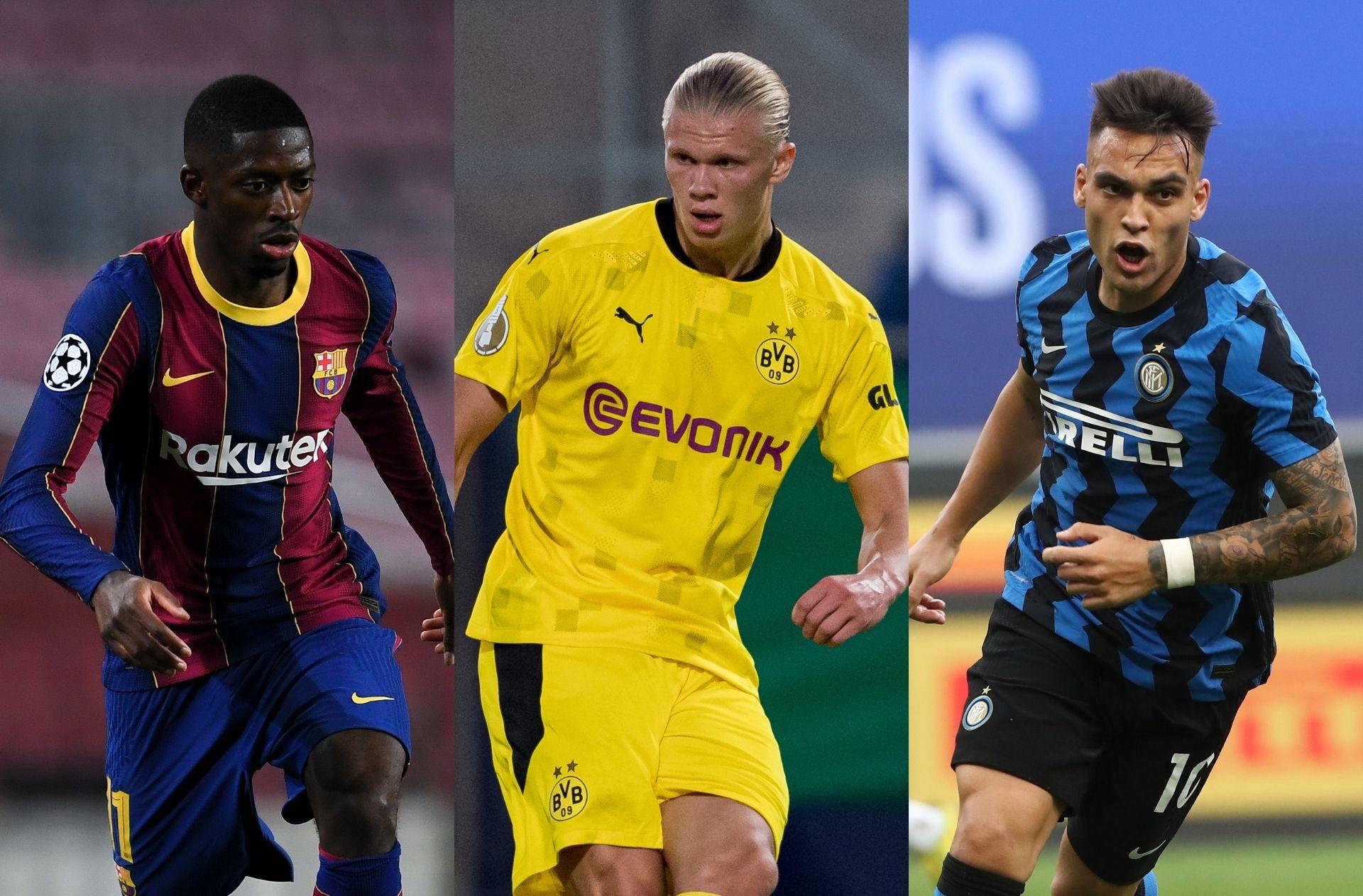 Ousmane Dembele - Barcelona, Erling Haaland - Dortmund, Lautaro Martinez - Inter