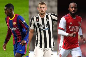 Ousmane Dembele Barcelona, Matthijs de Ligt - Juventus, Alexandre Lacazette - Arsenal