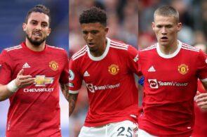 Alex Telles, Jadon Sancho, Scott McTominay - Man United