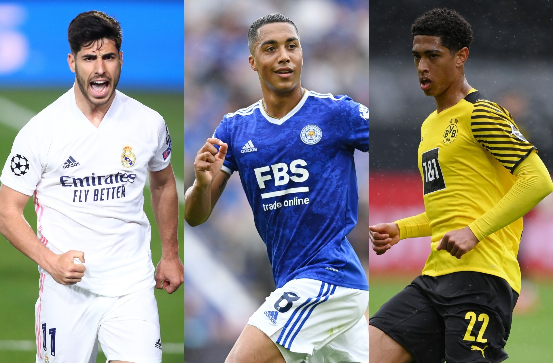 Marco Asensio - Real Madrid, Youri Tielemans - Leicester City, Jude Bellingham - Borussia Dortmund