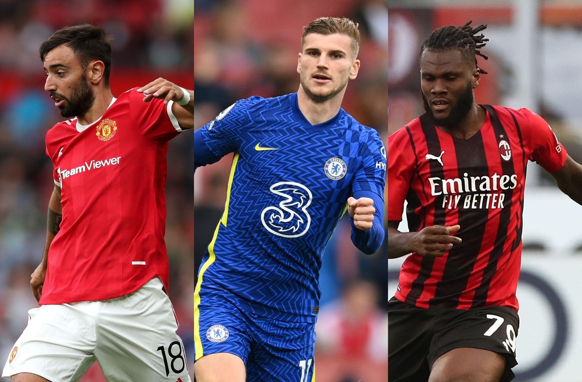 Bruno Fernandes Man United, Timo Werner - Chelsea, Franck Kessie - AC Milan