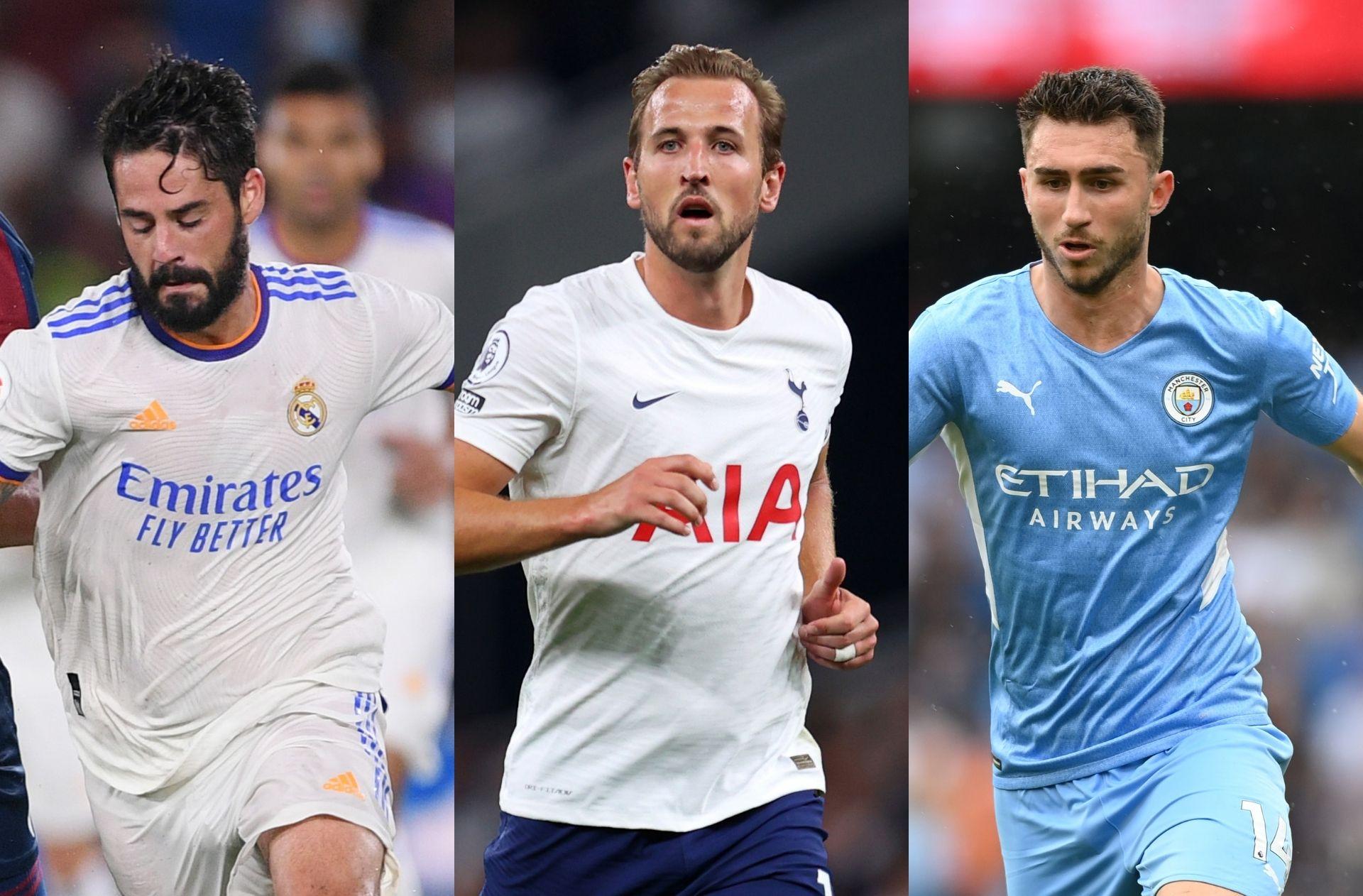 Isco Real Madrid, Harry Kane - Tottenham, Aymeric Laporte - Man City
