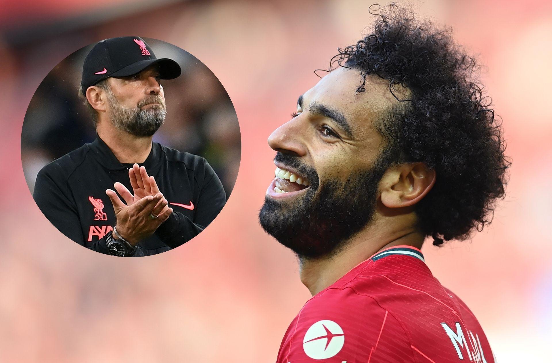 Jurgen Klopp, Mohamed Salah - Liverpool