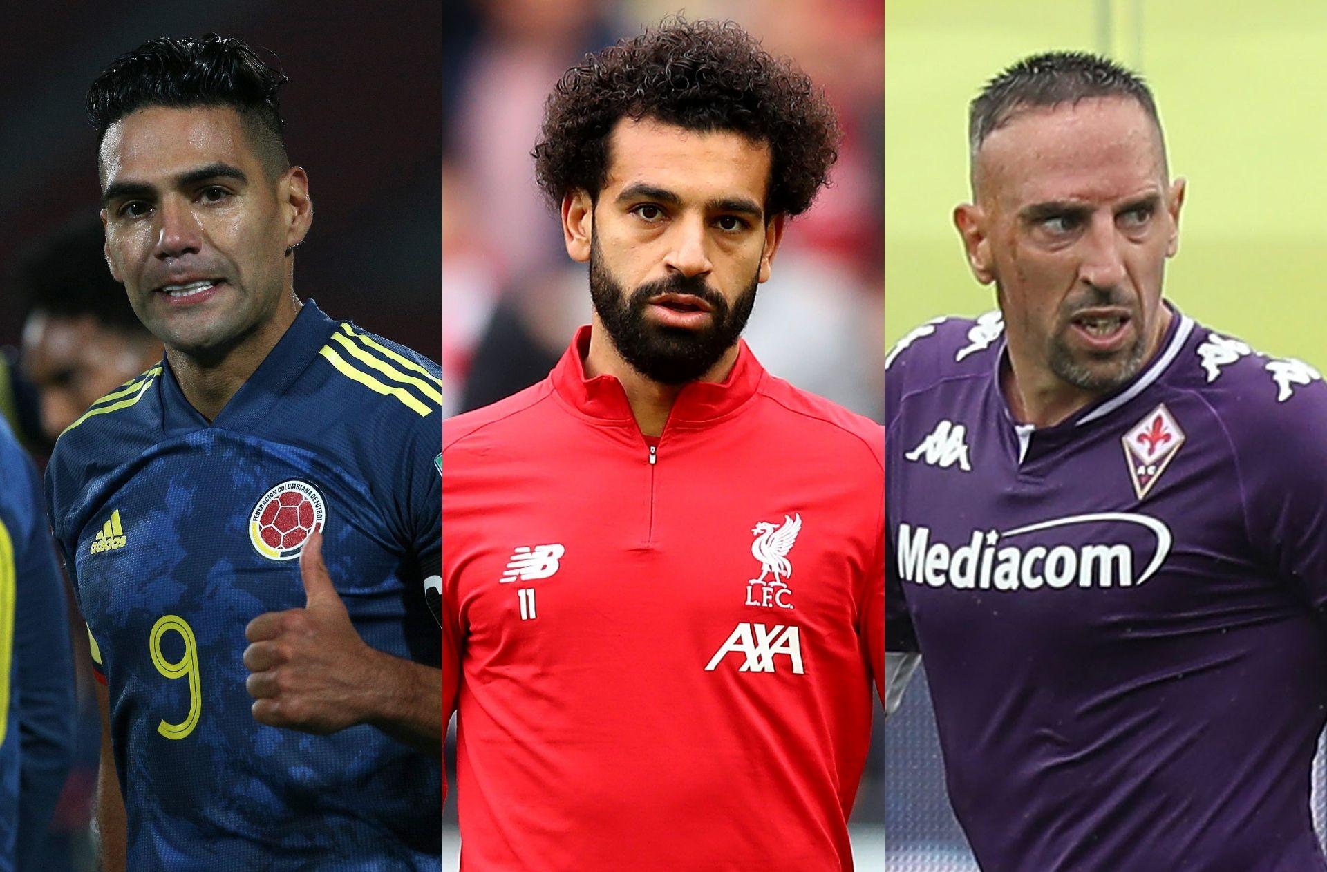 Radamel Falcao, Mohamed Salah, Franck Ribery, transfer