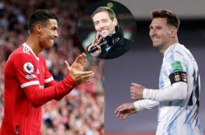 Cristiano Ronaldo, Peter Crouch, Lionel Messi