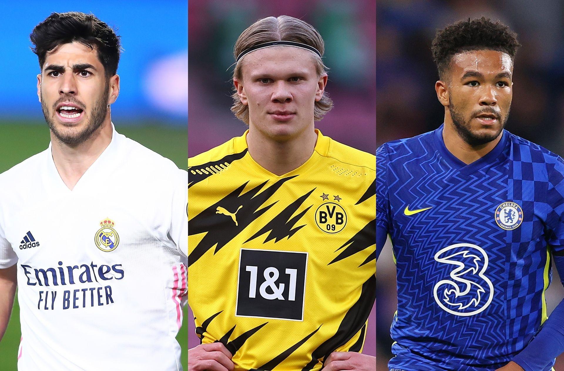 Marco Asensio, Erling Haaland, Reece James