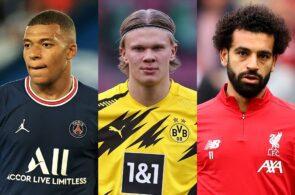 Kylian Mbappe, Erling Haaland, Mohamed Salah, Transfer