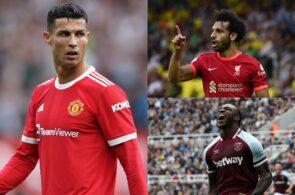 Cristiano Ronaldo, Mohamed Salah, Michail Antonio