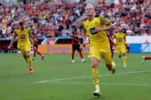Erling Haaland: Bayer Leverkusen vs Borussia Dortmund - Bundesliga