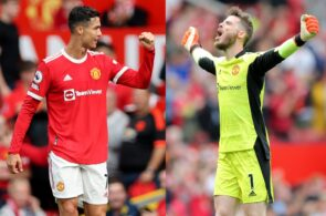 Cristiano Ronaldo, David de Gea, Manchester United
