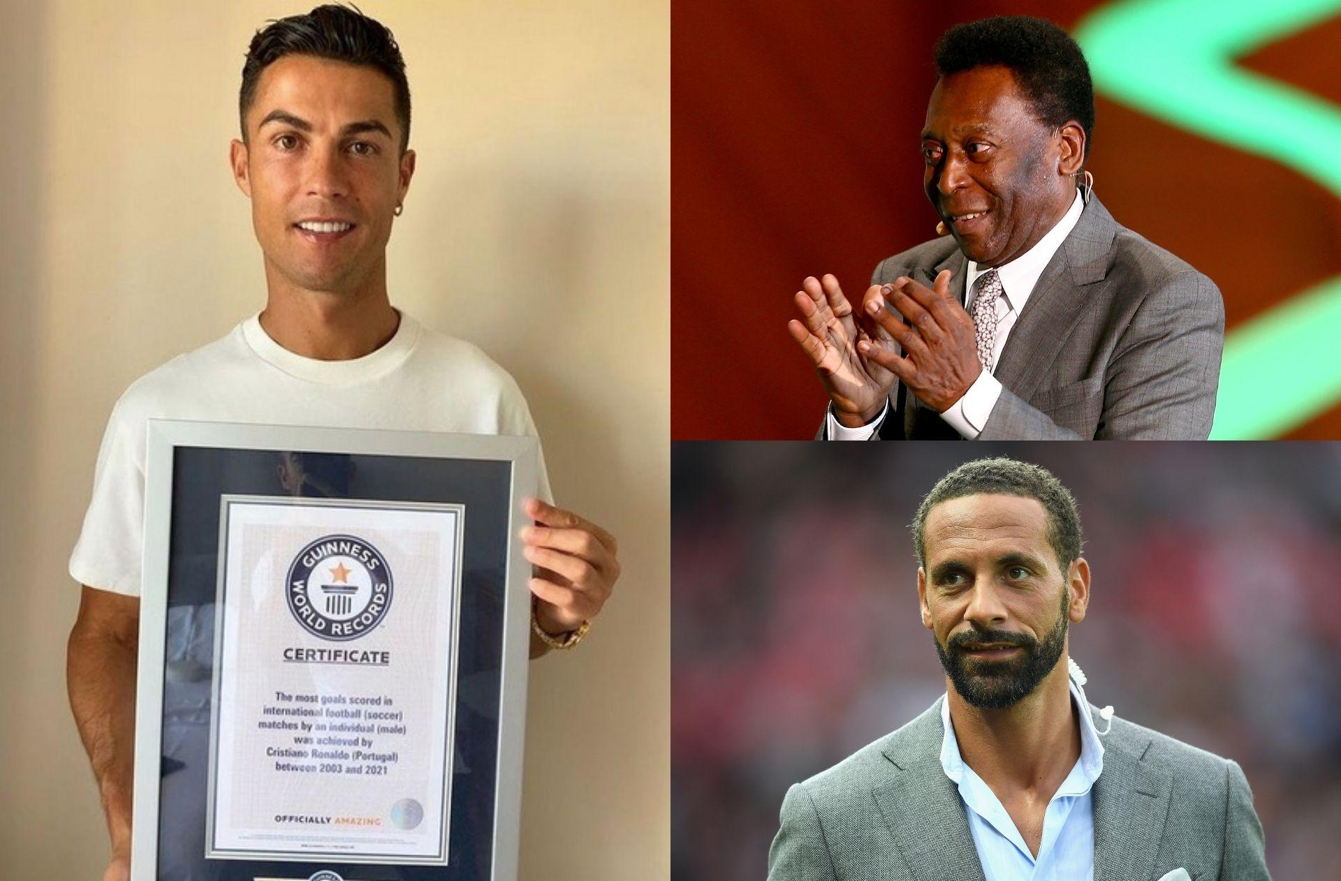 Cristiano Ronaldo, Pele, Rio Ferdinand