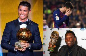 Cristiano Ronaldo, Lionel Messi, Pele