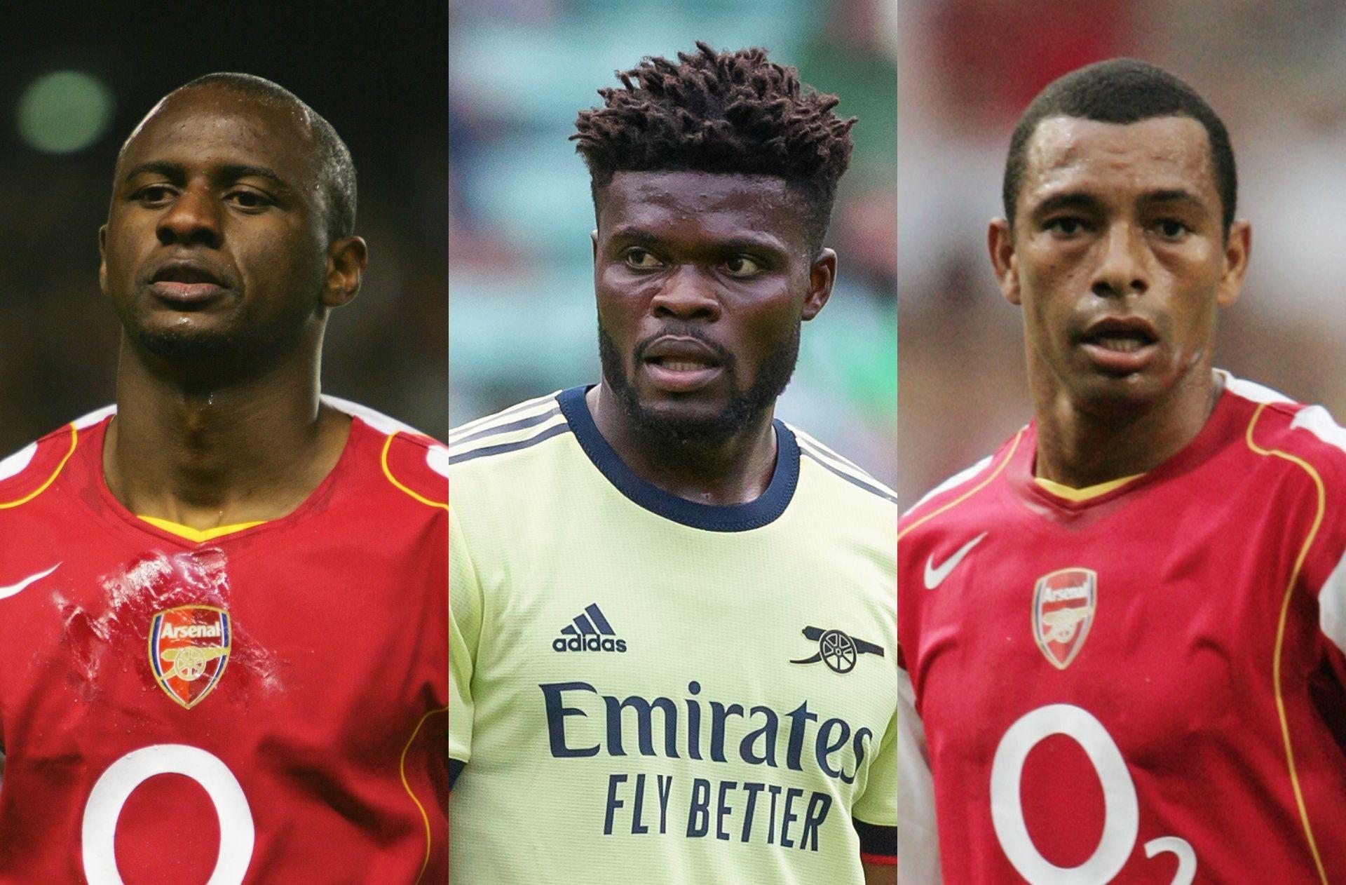 Patrick Vieira, Thomas Partey, Gilberto Silva, Arsenal
